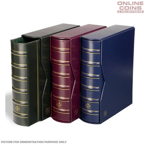 Lighthouse Classic Vario Gigant Album and Slipcase For Banknotes and Stamps - Blue