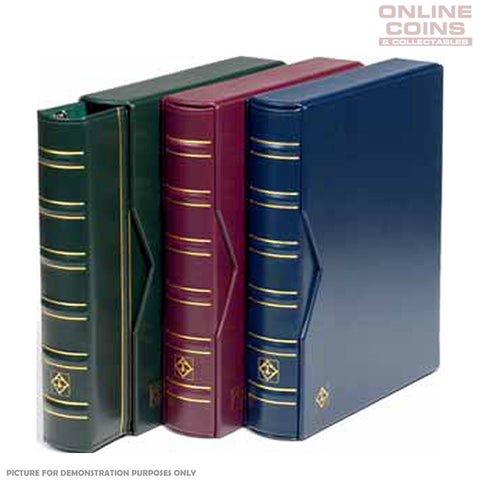 Lighthouse - Classic Vario Banknote and Stamp Album With Slipcase - Red