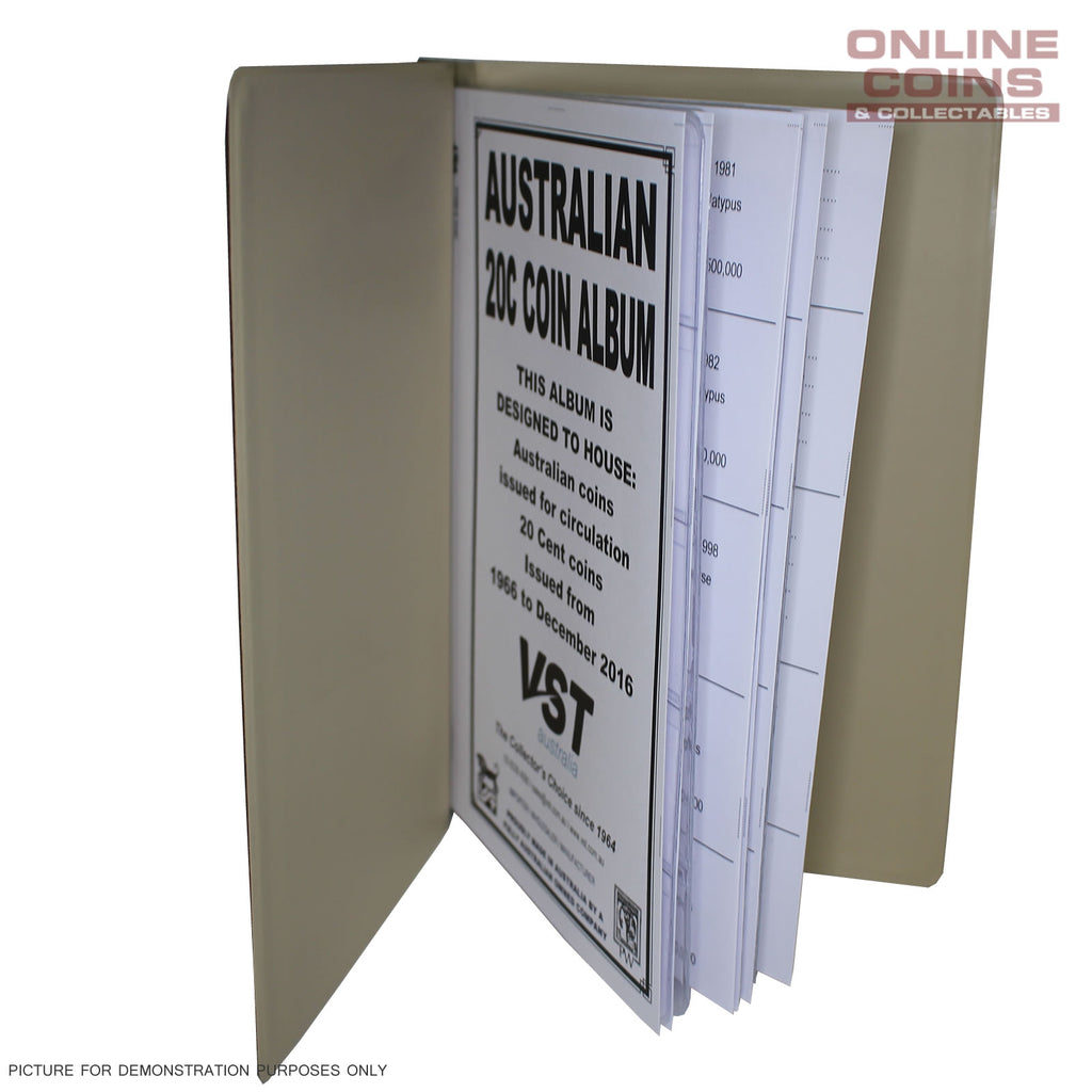 VST Australian 5 Album BUNDLE Decimal with Printed Mintage Interleaves