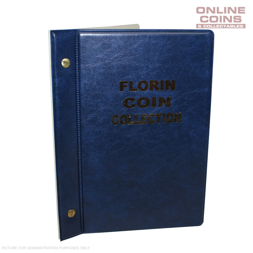 VST Australian Florin Album 1910 - 1964 With Printed Mintage Interleaves BLUE