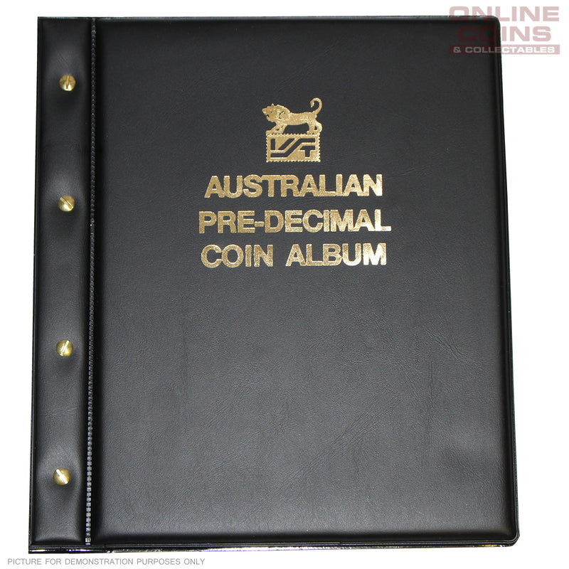 VST Coin Album Padded Leatherette Cover Australia Pre Decimal Pages - BLACK