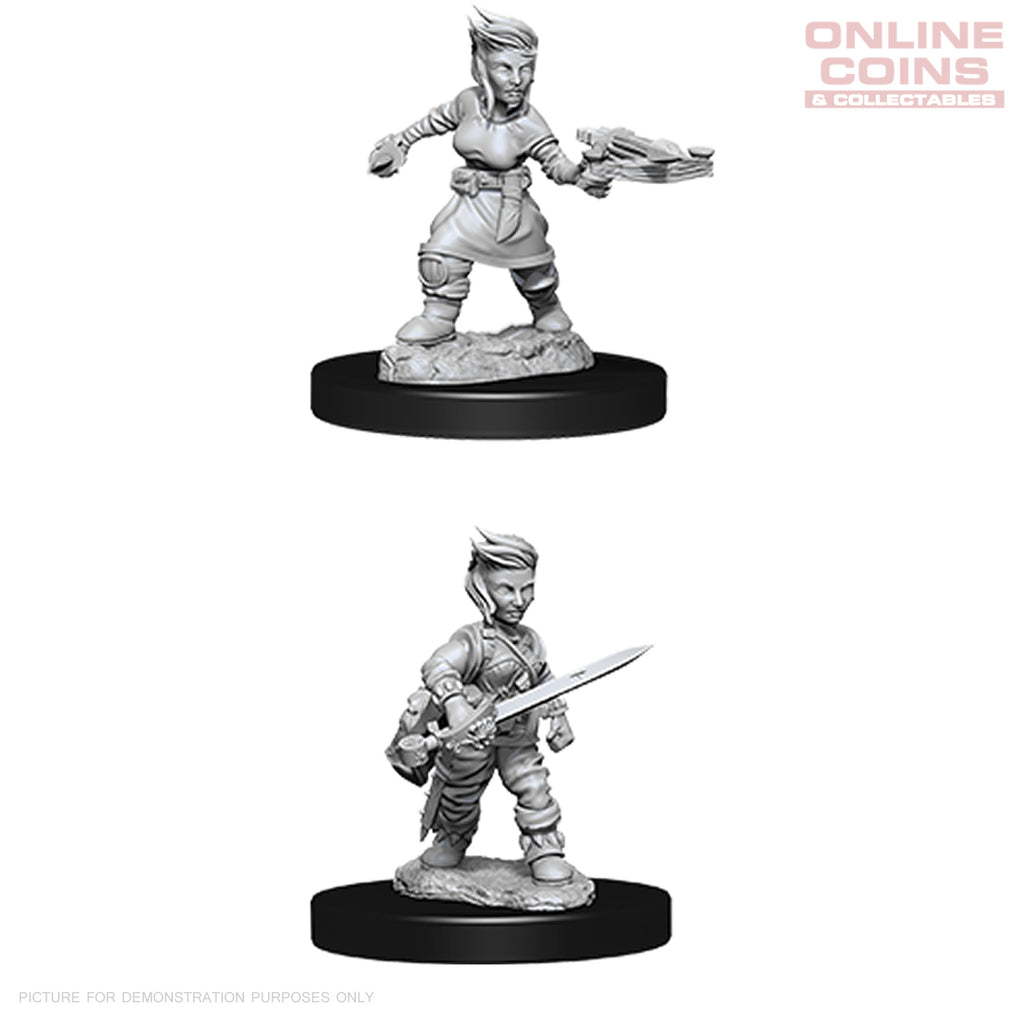 Pathfinder Deep Cuts Unpainted Miniatures Female Halfling Rogue- WizKids