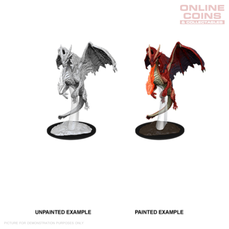 D&D Nolzurs Marvelous Unpainted Miniatures Young Red Dragon - WizKids