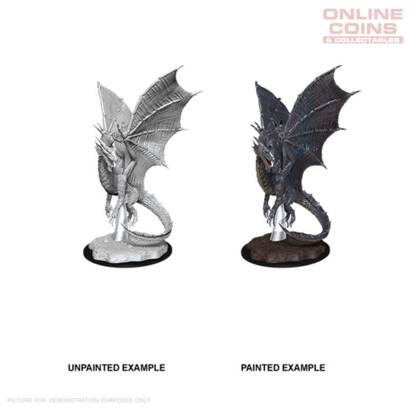 D&D Nolzurs Marvelous Unpainted Miniatures Young Silver Dragon - WizKids