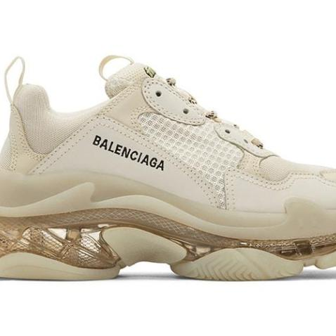 TRIPLE S TRIPLE BEIGE CLEAR SOLE