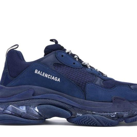 TRIPLE S NAVY CLEAR SOLE