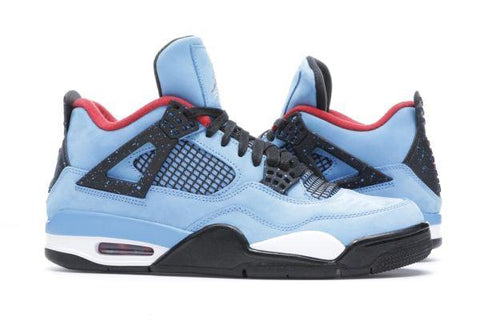 TRAVIS SCOTT X AIR JORDAN 4 CACTUS JACK BLUE