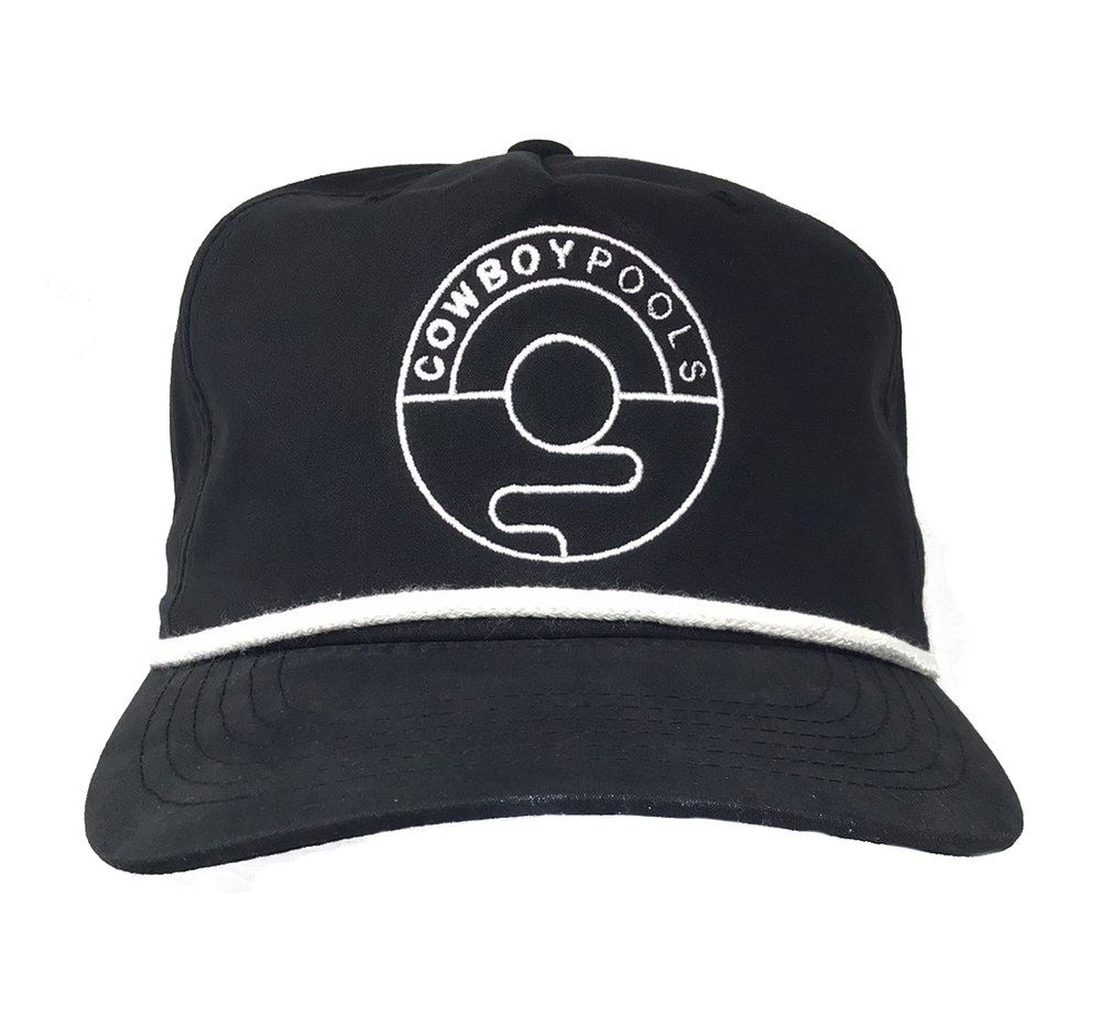 Black Cap with Embroidered Logo Outline