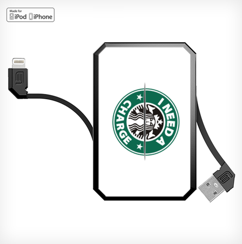 CAFFEINE LithiumCard PRO — with Apple Lightning connector