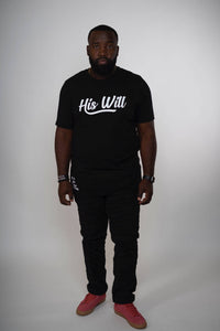 His Will Crew Tee (Black)