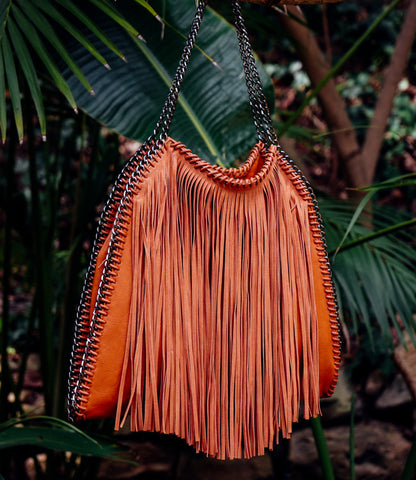 FRINGE CHAIN STRAP HANDBAGS--SOLD