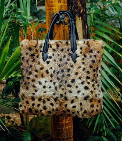 CHEETAH FUR HANDBAG--SOLD