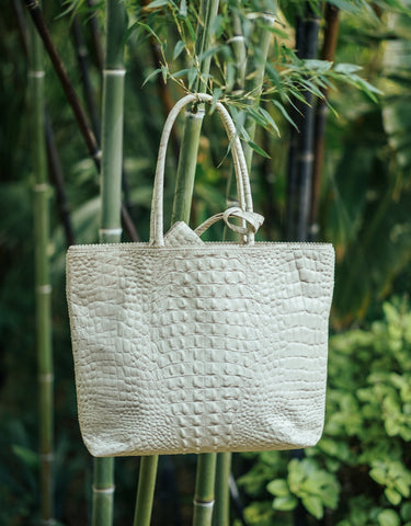 LARGE IVORY TOTE