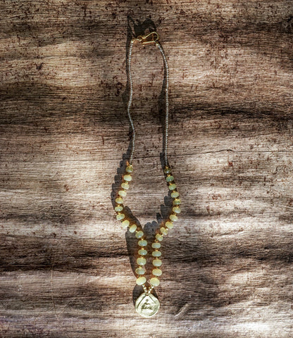YELLOW OPAL BUDDHA NECKLACE--SOLD