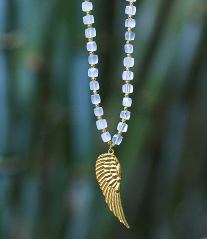 MOONSTONE ANGEL NECKLACE