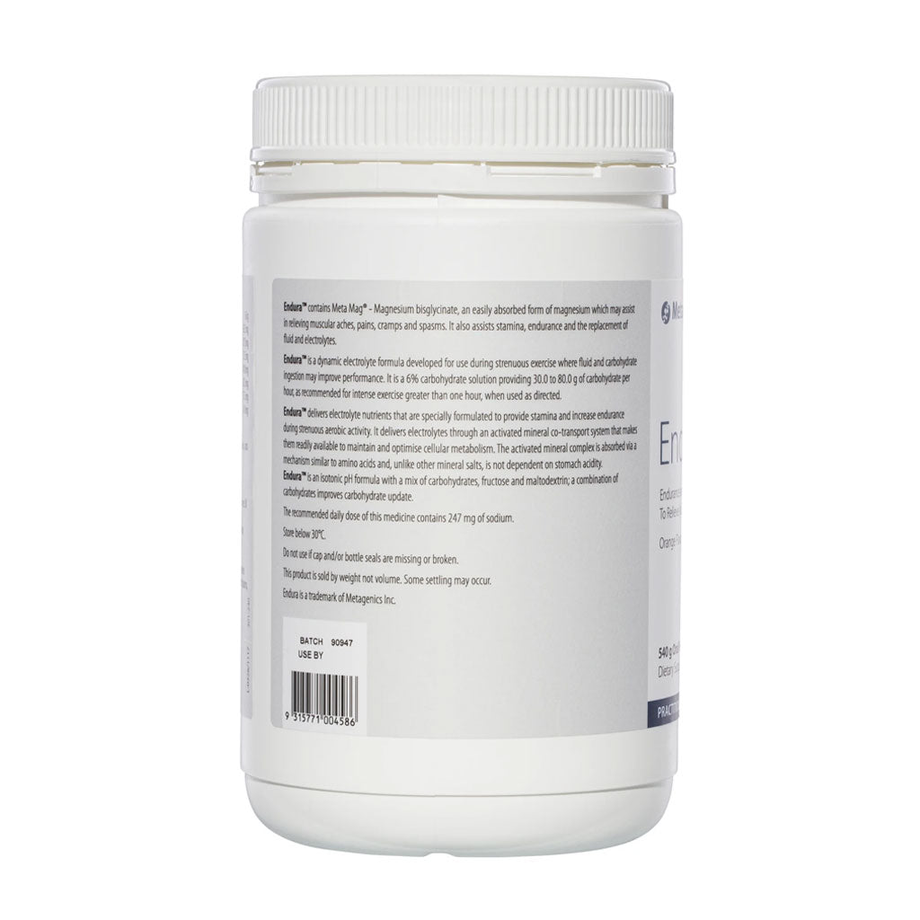 Metagenics Endura Lemon Lime 540g powder