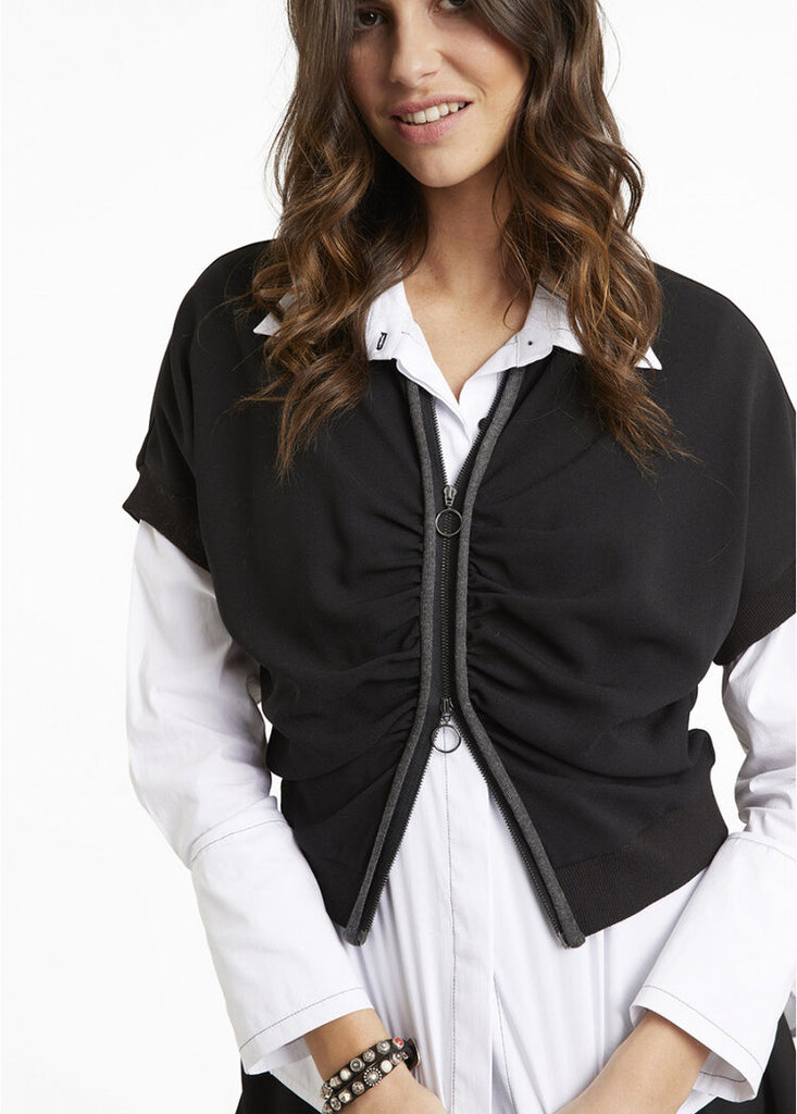 Lauren Vidal Short Draped Jacket