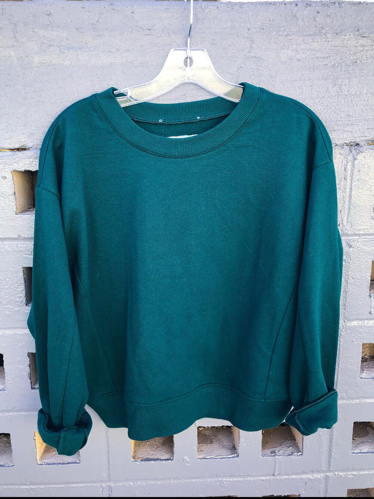 Belle + Day EXOTIC Long Jade Sweatshirt
