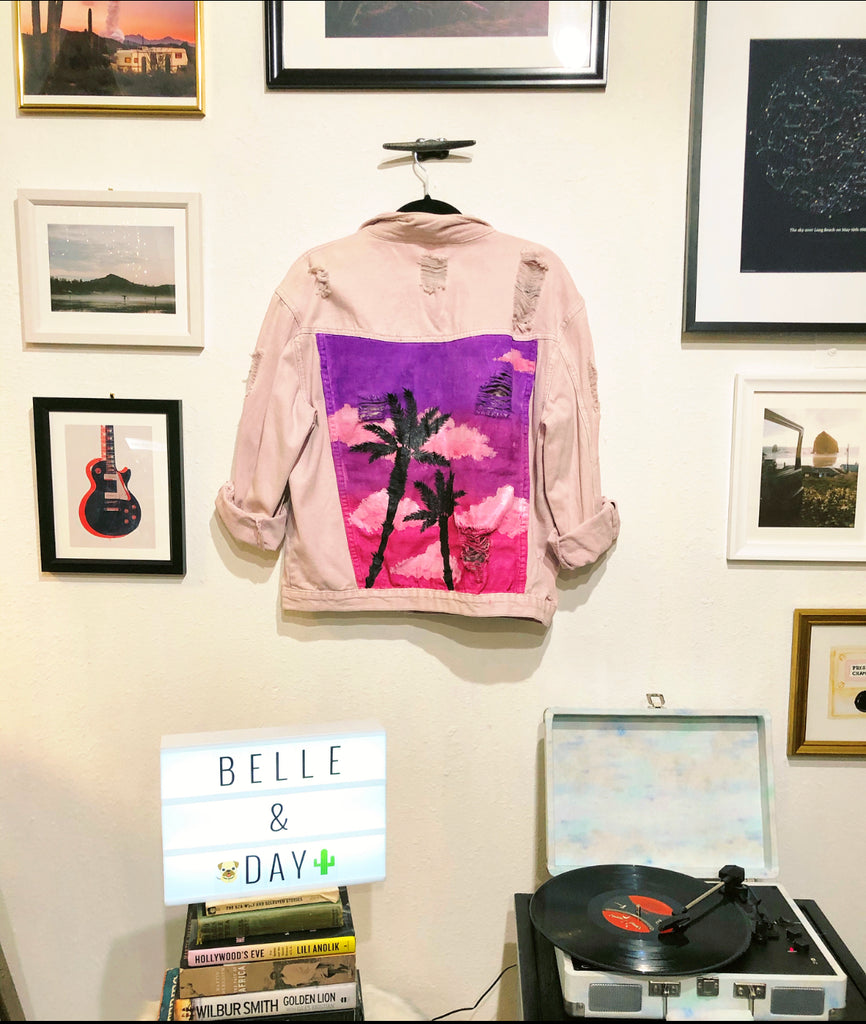Belle + Day SUNSET Jacket in Purple/Pink
