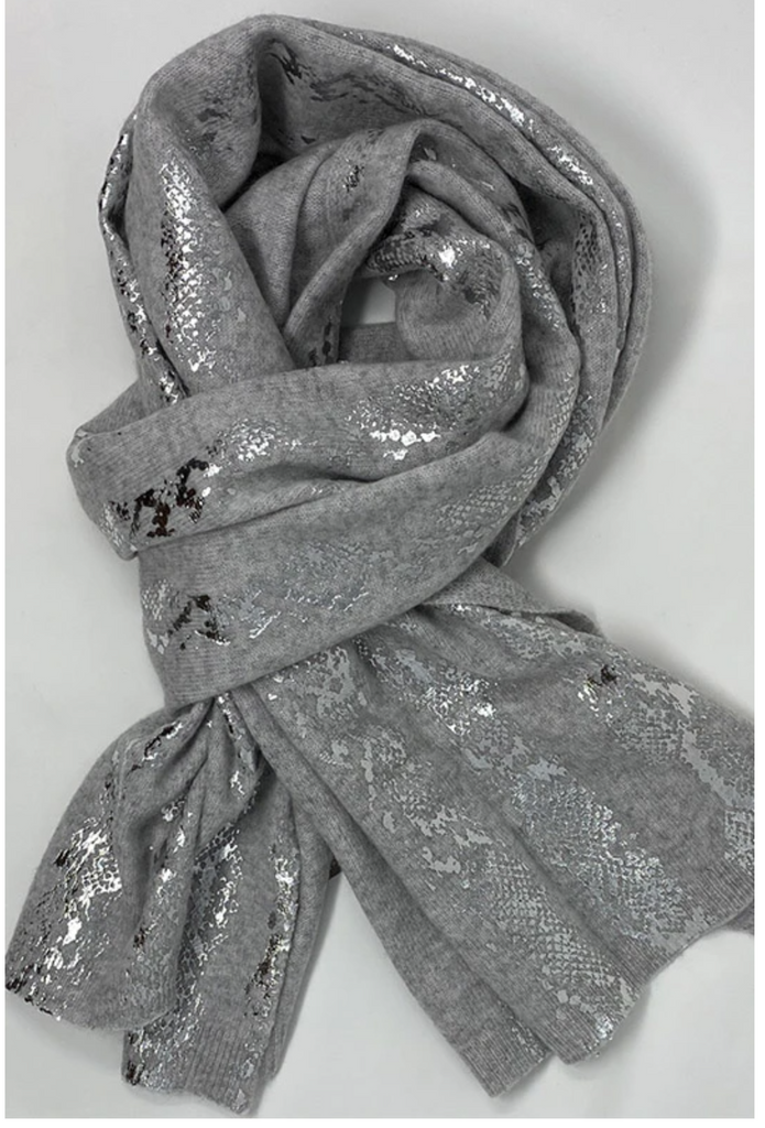 Brodie Cashmere Snake Foil Scarf