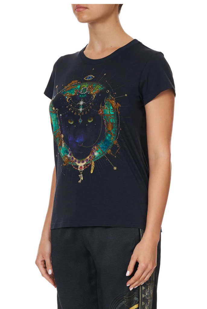 Camilla Slim Fit Round Neck T-Shirt Wise Wings