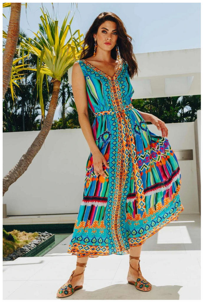 Lula Soul Salsa Maxi Dress