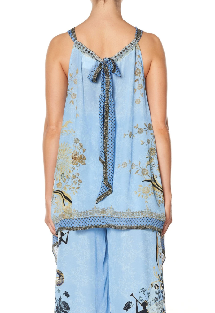 Camilla Fairy Fountain Drawstring Neck Tank