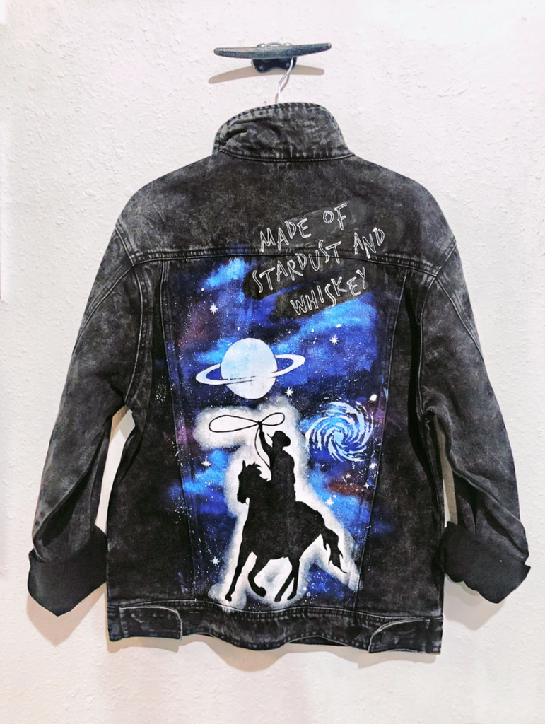 Belle + Day Cosmic Cowboy Unisex Dark Denim Jacket