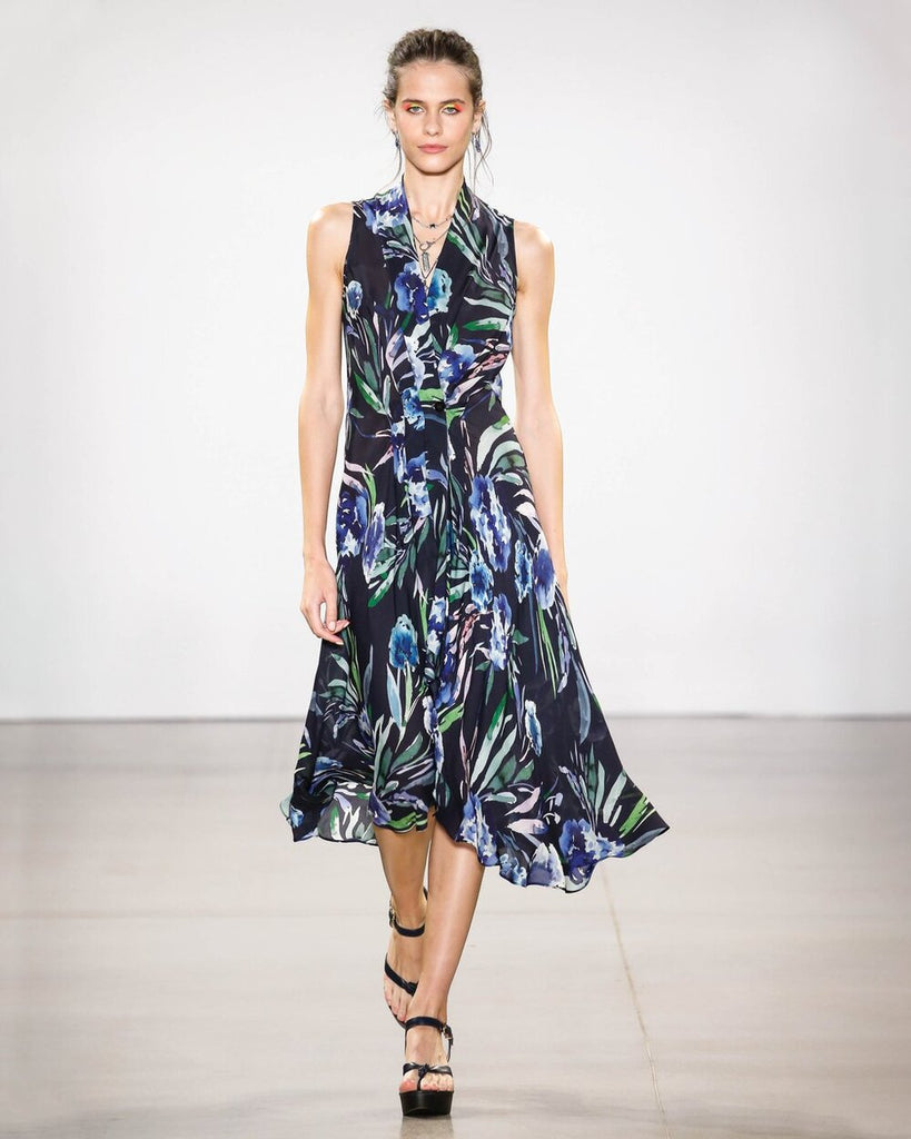 Nicole Miller Blue Mirage High Low Dress