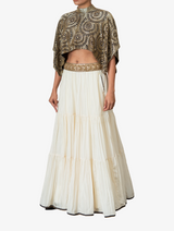 Ivory skirt and matching embellished belt