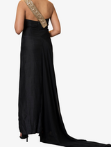 Full length georgette drape dress