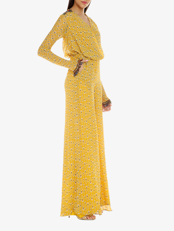 Yellow Chiffon Jumpsuit