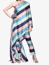 Pastel one shoulder drape set