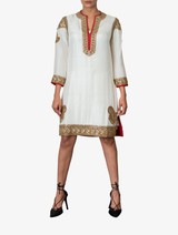 Hand-embroidered kurta dress