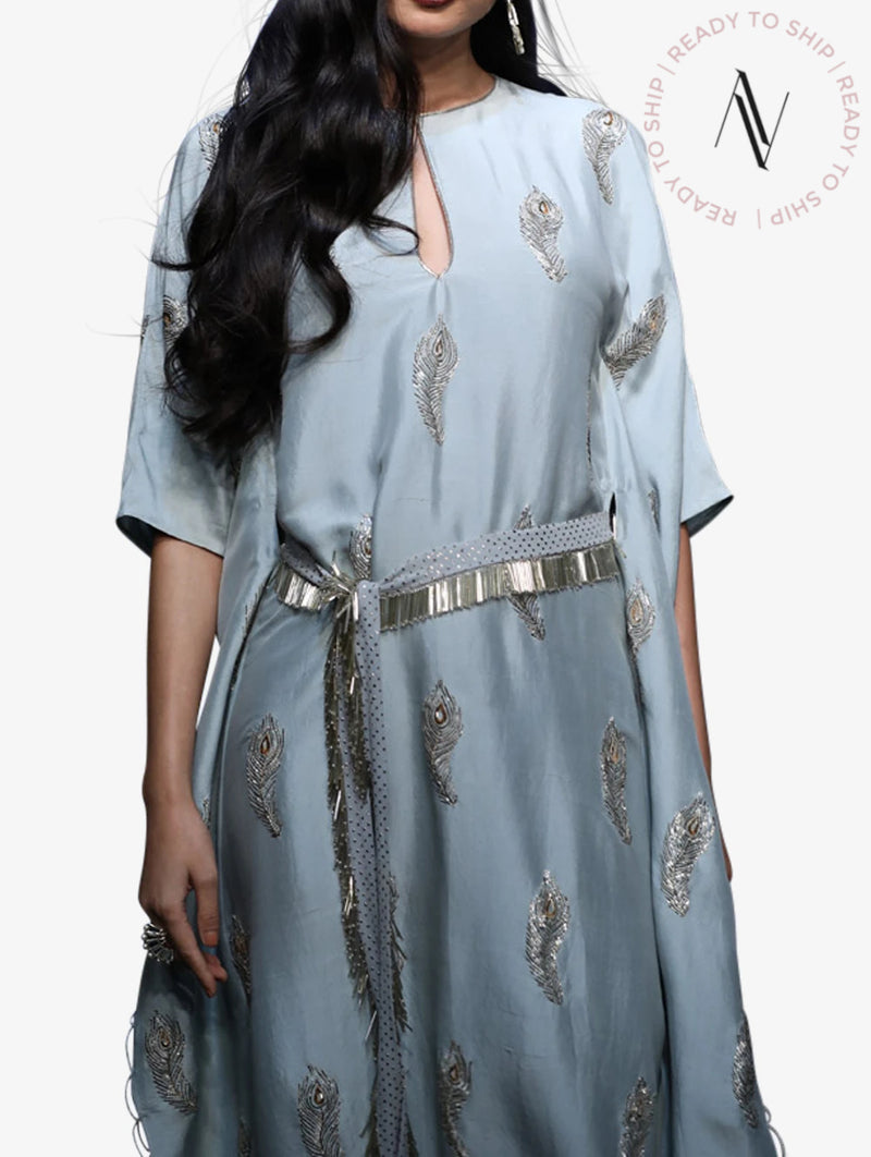 Kaftaan with a mukaish and georgette belt set
