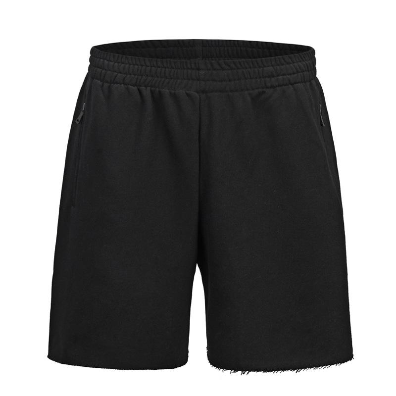 Cotton Loose Brushed Cuff Solid Color Men's Short