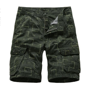Tactical Multi-pocket Square Printing Men's  Shorts