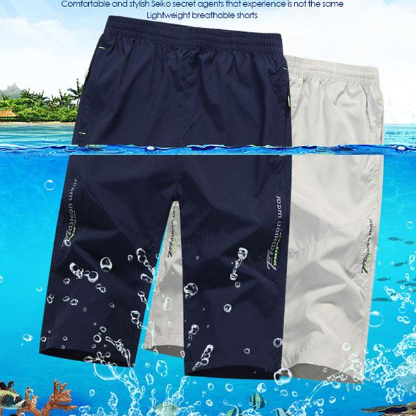 Sport  3D Cutting Quick Drying Men's Cropped Shorts