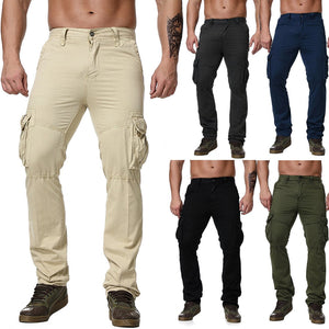 2019  Casual Loose Cotton Multi-pocket Men's Pants