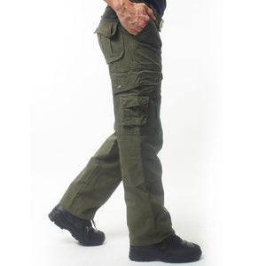 Outdoor Solid Color Cotton Tactical Men's Pants