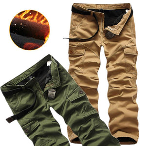 Winter Double Layer Thick Baggy Cotton Outdoor Men's Pants