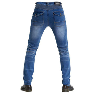 Protective Four-piece Denim Professional Racing Men's Pants