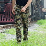 Leisure Military Style Camo Multi-Pocket Men's Pants