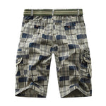 Summer Casual Plaid Elastic Waist Men's shorts