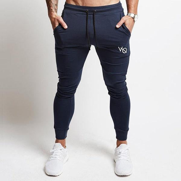 Sports Running Cotton Straight Elastic Men's Pants