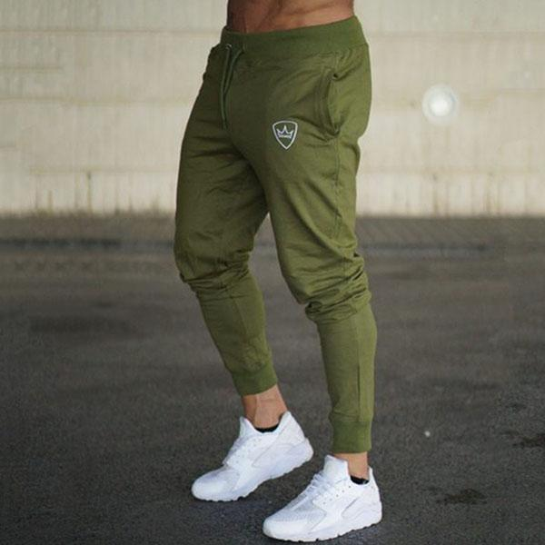 Cotton Running Fitness Men's Ankle Banded Pants