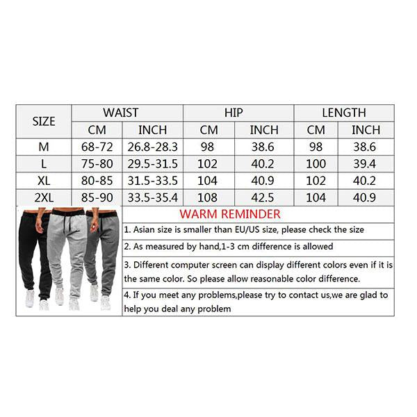 Fitness Elastic Waistline Solid Color Men's Sports Pants