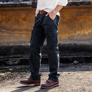 Popular Solid Color Cotton Men's Pants