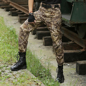 Outdoor Python Pattern Tactical Pocket Men's Pants