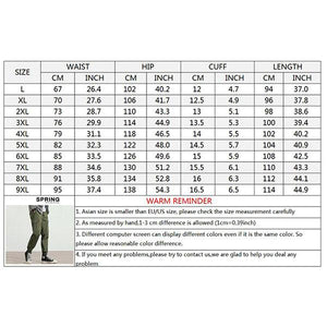 Casual Plus Size Loose Multi-pocket Ankle Banded Pants